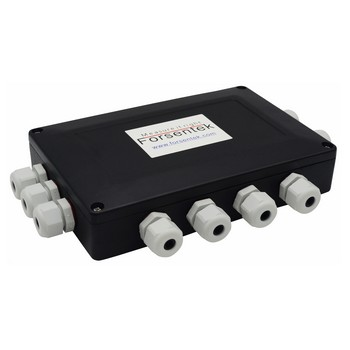 12-way load cell summing box with 12 inputs