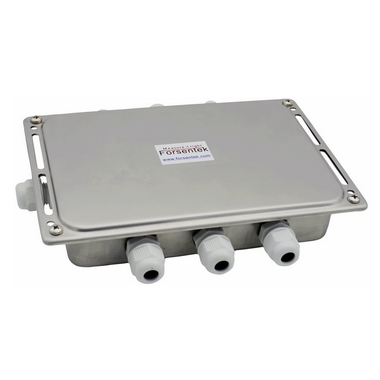 Load cell junction box for multiple load cells