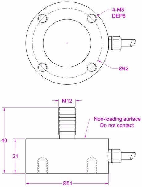 Rod End Load Cell Compression Force Measurement