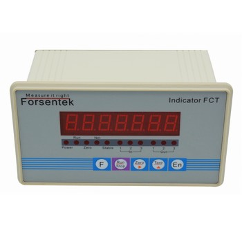 Load cell indicator weighing controller